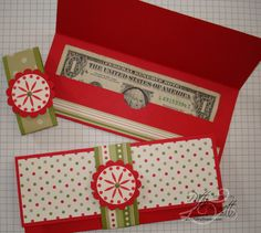 That's when these Christmas money holders come in handy. They'll fit perfectly in a stocking or add a nice, homemade touch while hanging on a tree branch. Gift Cards Money, Christmas Gift Card Holders, Money Holders, Personalized Birthday Gifts, Scrapbooking, Silent Auction, Play Therapy, Therapy Activities, Speech Therapy