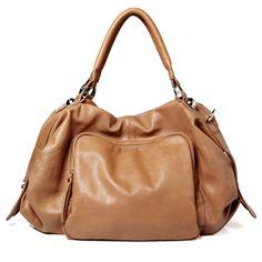 Fab.com   Emily Medium Satchel Bag Apricot