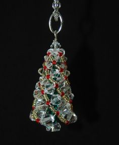 Swarovski crystal Russian spiral Christmas by JewelryWithAFlourish, $20.00