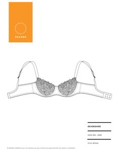Devonshire bra PDF pattern - Orange Lingerie