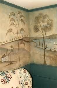 Rufus Porter inspired wall mural