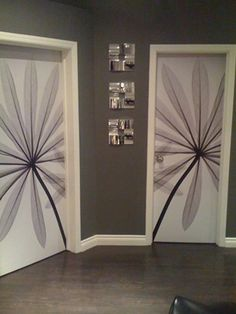 FABULOUS idea! When painting my walls and woodwork decorate the doors too. Wish I'd have thought of this. The simplicity its what catches my eye. This looks like art.