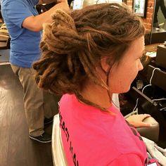 #manny #zokusalon #zokusalonsummitnj #dreads #updo #dreadupdo #hairstyle…