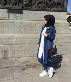Hijab A Enfiler, Hijab Style, Casual Hijab Outfit, Hijab Chic, Modern Hijab Fashion, Arab Fashion, Muslim Fashion, Stylish Dress Designs, Stylish Dresses
