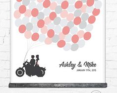 Motorcycle Wedding, Guest Book Alternative, Wedding Guest Book, Biker Wedding, Unique Guest Book