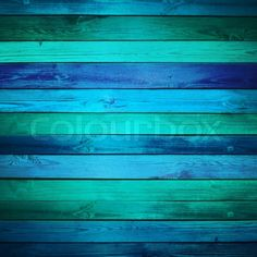 Stock Image Of Old Blue Wooden Background Horizontally Placed