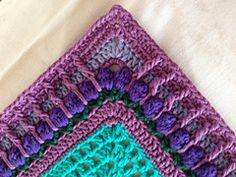 Crochet Afghans Ideas Betty's Beautiful Border pattern by Betty Byers - Crochet Boarders, Crochet Edging Patterns, Crochet Motifs, Crochet Blocks, Crochet Squares, Crochet Designs, Crochet Stitches, Granny Squares, Crochet Afghans
