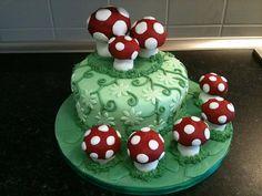 Lori's mushroom cake 14th cake
