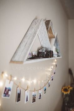 These stunning, twinkling lights are a MUST HAVE for your home or bedroom! - Home Decor My Room, Dorm Room, Photowall Ideas, Room Goals, Decoration Design, Dream Rooms, Diy Room Decor, Home Decor, Dorm Decorations