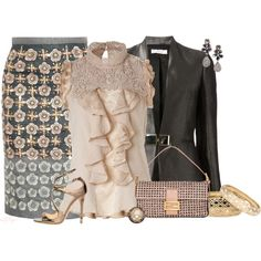 """Pencil Skirt Contest 2"" by kginger on Polyvore...my style less the jewelry"