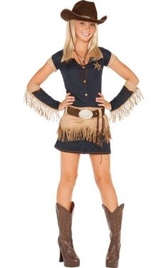 Teen Girls Quickdraw Cutie Cowgirl Costume-Party City