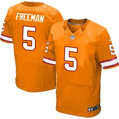 953371695 Men s Nike Tampa Bay Buccaneers  5 Josh Freeman Elite Alternate Orange  Jersey  129.99 Nike Elites