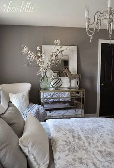 Graystone by Benjamin Moore in Matte Finish - Dear Lillie: Guest Bedroom #BeddingMasterBedroom