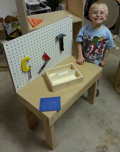 Kids Workbench. Made From Scraps I Already Had. Now Zane Has A Place To