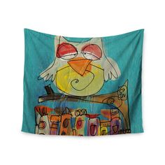 "Carina Povarchik ""Urban Owl Teal "" Teal Kids Wall Tapestry"