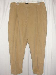 NEW LANDS' END Womens Pants Light Camel Brown Corduroy Slacks Size 26W #LandsEnd #Corduroys