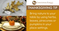 Thanksgiving Tip: Bring Nature Indoors