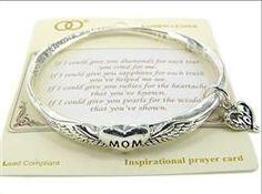 Silver Mom Prayer Twist Bracelet
