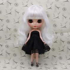 66.74$  Buy now - http://aliyb6.worldwells.pw/go.php?t=32506751023 - Sweet Nude Blyth doll white hair with bangs fashion dolls for sale blyth dolls for girls gifts