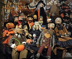 Joe Spencer's 2015 Halloween Gathered Traditions folk art Collection for Gallerie II