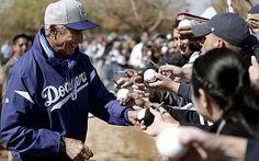 Dodgers Spring Training: Sandy Koufax, Tommy Lasorda Arrive