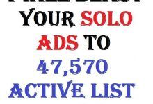 I will blast your Solo Ads to 47,570 Active List