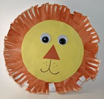 paper plate lion - for Daniel in the Lions' Den lesson
