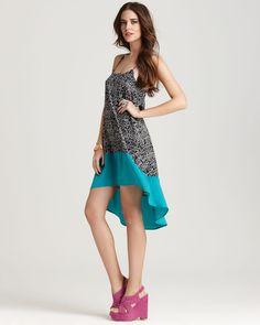 Aqua Colorblock Dress #dress #washingtonflyer #bloomingdales
