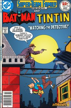 Batman and TinTin,a mock cover