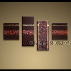 Astonishing Contemporary Wall Art Oil Painting On Canvas Gallery Stretched Abstract. This 4 panels canvas wall art is hand painted by Kerr.Donald, instock - $162. To see more, visit OilPaintingShops.com