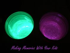 Glow in the dark drinks!  Curve a glow stick in the bottom of a bigger cup.  Place a smaller clear plastic cup inside of it and push down so it fits tightly.  Fill the cup with drink, and there ya go!