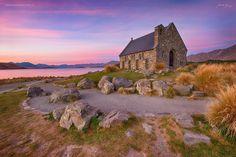 Church of Good Shepard - Lake Tekapo Good Shepard, Lake Tekapo, Visit New Zealand, Places Of Interest, Mountains, Nature, Travel, Naturaleza, Viajes