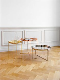 Habibi metal, copper and brass side tables. - b e a u t y