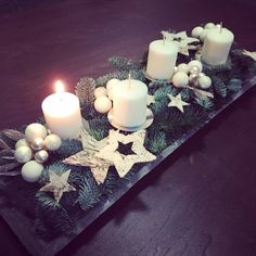 Create an unusual Advent wreath without needles this year: 31 magical and . - Create an unusual Advent wreath without needles this year: 31 magical inspirations – this time de - Christmas Advent Wreath, Christmas Candle Decorations, Advent Candles, Christmas Candles, Rustic Christmas, Christmas Time, Christmas Crafts, Table Decorations, Food Crafts