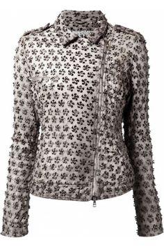 Damen - Laser Cut Biker Jacket