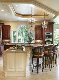 Traditional kitchen with lovely lights