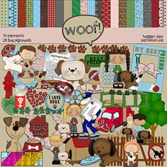 Woof+Digital+Scrapbook+Kit+from+Ditz+Bitz+Digital+Scrapbook+Supplies+on+TeachersNotebook.com+-++(102+pages)++-+This+cute+dog+themed+kit+includes+102+images.+There+are+28+backgrounds+&+74+elements.