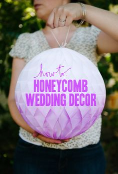 How To: Ombre Honeycomb balls (with a secret ingredient you'll never guess) | A Practical Wedding