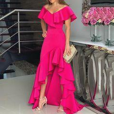 For Sale - African Style Women Deep V-Neck Maxi Dress Elegant Chic Ruffled Irregular Dress Sexy Evening Party Dress Cheap Dresses, Elegant Dresses, Sexy Dresses, Dresses For Sale, Evening Dresses, Fashion Dresses, Long Dresses, Midi Dresses, Floral Dresses