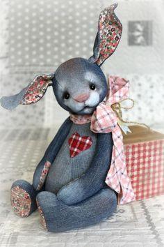 42cm rose pâques bunny rabbit plush peluche-en tricot style