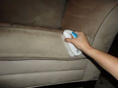 How to clean microfiber couch!