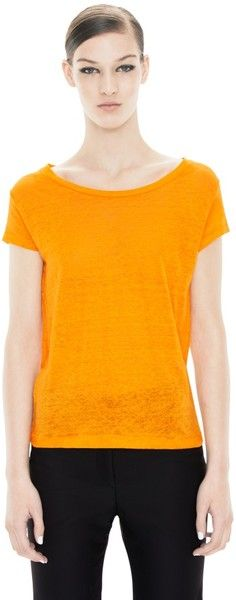 Acne Orange Copy Linen TShirt