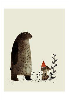 Jon Klassen - Print - I Want My Hat Back - page 07 (Rabbit) - Nucleus | Art Gallery and Store