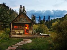 Step back in time for a romantic getaway in the mountains of Colorado where you can stay in a  beautifully restored cabin  from the 1800s at Dunton Hot Springs.