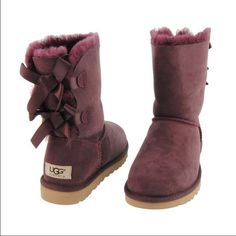 Maroon Bailey Bow UGGS Awesome boots! Only worn a few times!!! Will post pictures when I get home. UGG Shoes Ankle Boots Booties