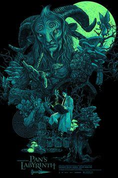 "Pan's Labyrinth ""El Fauno"" with Lightbox by Vance Kelly - Hero Complex Gallery Arte Horror, Horror Art, Horror Movies, Wallpaper Animes, Kobold, Kunst Poster, Desenho Tattoo, Cinema Posters, Alternative Movie Posters"