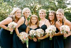 Love the color Navy and the flower arrangements are pretty as well!