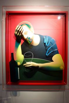 Adam Neate - a troubled man with a drink
