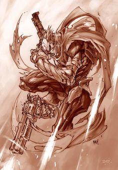 When Vigil boss Joe Madureira told us he'd designed all four of Darksiders' Horsemen of the Apocalypse, he wasn't lying. Darksiders Horsemen, Darksiders Death, Darksiders Game, Joe Madureira, Dark Siders, Battle Chasers, Death Art, Horsemen Of The Apocalypse, Comic Art Community