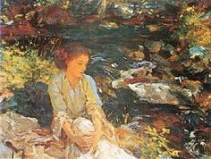"John Singer Sargent ""The Black Brook."" - Growing up by a creek, I love, love, love this painting!"
